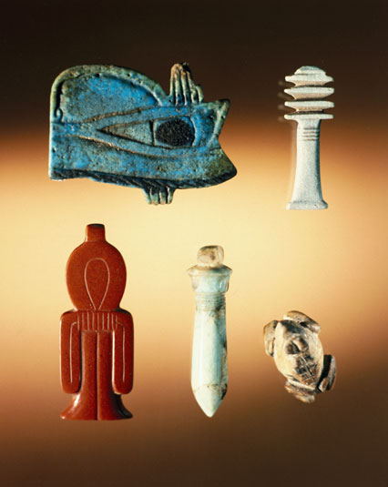Magical Egyptian amulets in the Louvre. Called ...  |Ancient Egyptian Amulets Afterlife