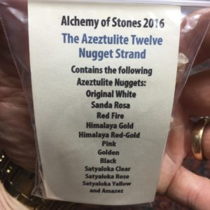 One of the several gifts we were given over the course of the weekend, here's an outline of the top Azeztulite stones, as featured in a combined necklace.