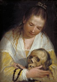 Alessandro Casolani (1552/53-1607), Young Woman Contemplating a Skull