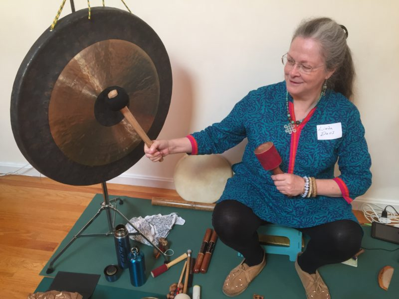 Linda Davis activating her largest sound tool