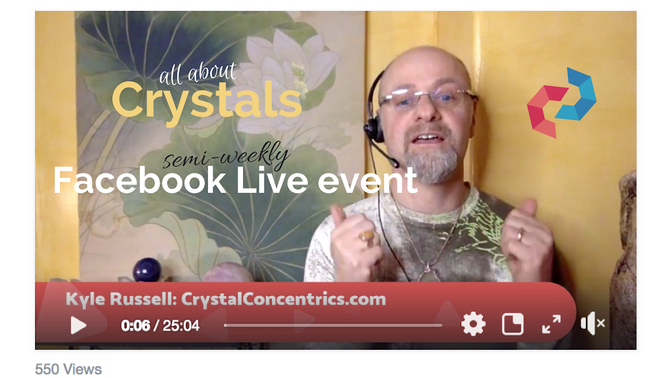 Facebook Live on 3rd Eye/Vision Stones, with Kyle Russell (6/19)